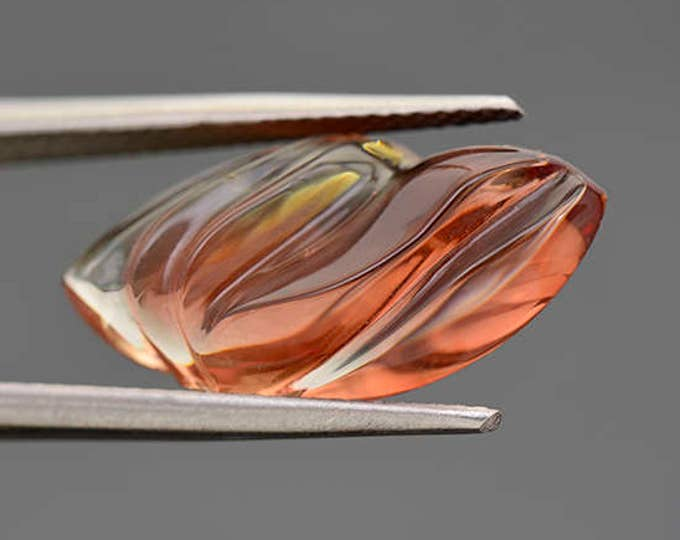 Fantastic Red Sunstone Freeform Carving from Oregon 7.29 cts.