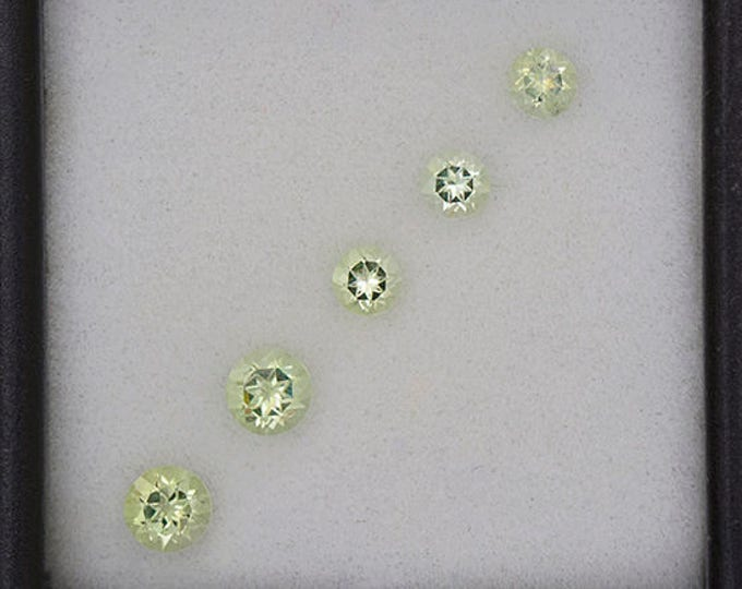 Nice Yellow Green Amblygonite Gemstone Set from Brazil 0.86 tcw.