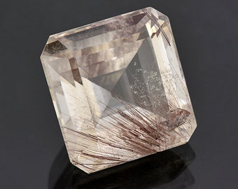 SALE! Large Quartz with Rutile Inclusion Gemstone from Brazil 58.29 cts.