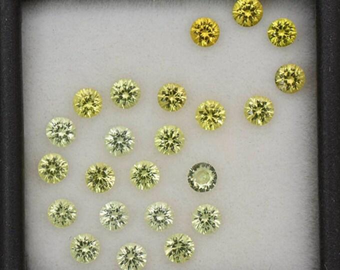 SALE! Gorgeous Yellow Grandite Garnet Gemstone Set from Mali 3.22 tcw.