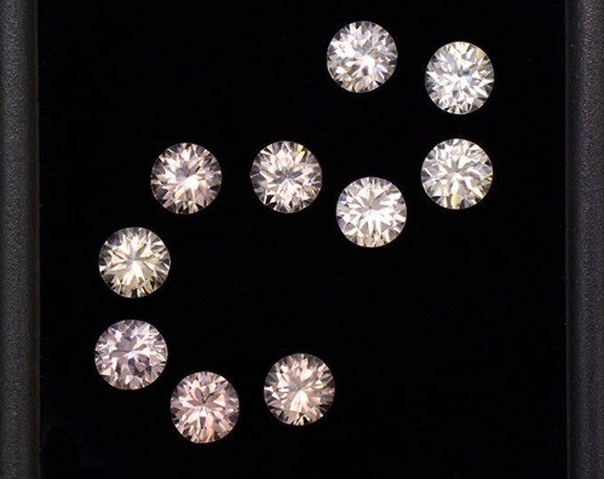 Superb Silvery Champagne Zircon Gemstone Set from Australia 4.55 tcw.