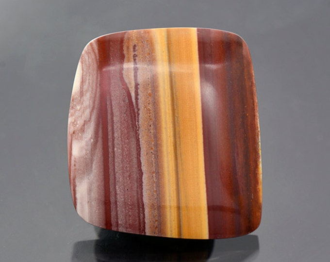 Beautiful Banded Rhyolite Cabochon from New Mexico 48.85 cts.