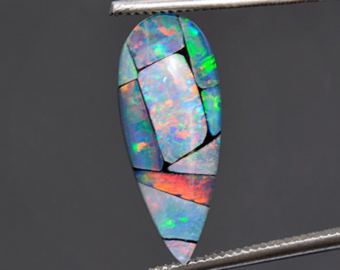 Fantastic Mosaic Opal Triplet Cabochon from Australia 5.09 cts.