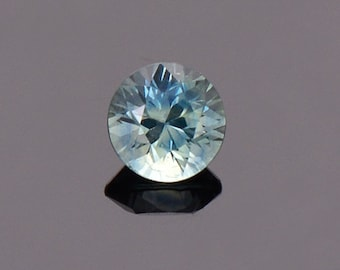 ETSY BIRTHDAY SALE! Sky Blue Green Sapphire Gemstone from Montana, Round, 0.77 cts., 5.2 mm.
