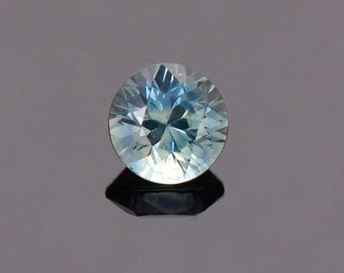 Sky Blue Green Sapphire Gemstone from Montana, Round, 0.77 cts., 5.2 mm.