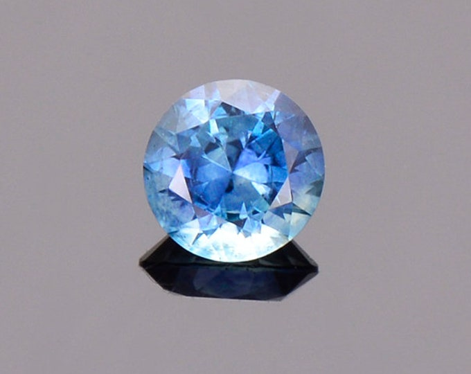 Blue Green Sapphire Gemstone from Montana, Round, 0.56 cts., 4.8 mm.