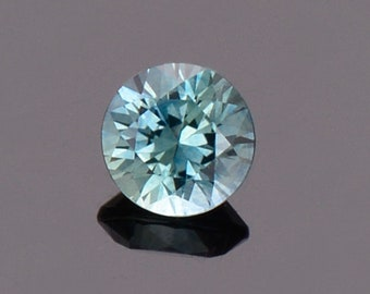 ETSY BIRTHDAY SALE! Bright Blue Green Sapphire Gemstone from Montana, Round, 0.57 cts., 4.8 mm.