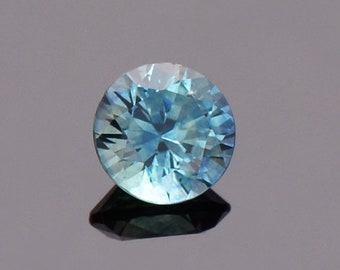 ETSY BIRTHDAY SALE! Bright Blue Green Sapphire Gemstone from Montana, Round, 0.74 cts., 5.2 mm.