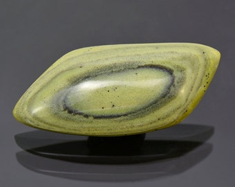 SALE! Lovely Green Banded Ricolite Cabochon from New Mexico 57.04 cts.