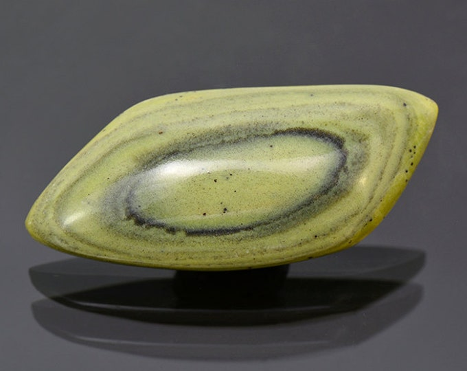 Lovely Green Banded Ricolite Cabochon from New Mexico 57.04 cts.