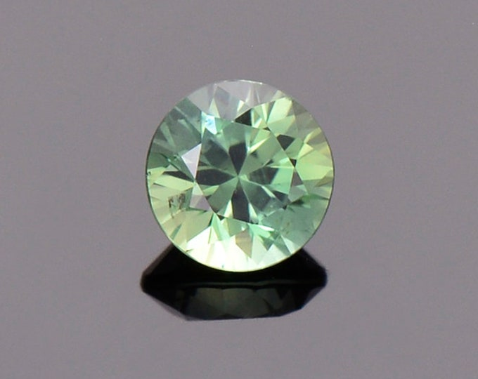 Green Blue Sapphire Gemstone from Montana, Round, 0.68 cts., 5.0 mm.
