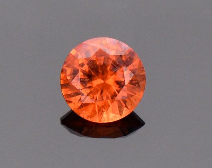 Excellent Rare Orange Triplite Gemstone, 0.70 cts., 5.4 mm., Round Brilliant Cut