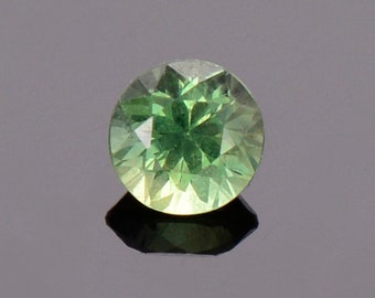ETSY BIRTHDAY SALE! Green Sapphire Gemstone from Montana, Round, 0.46 cts., 4.4 mm.
