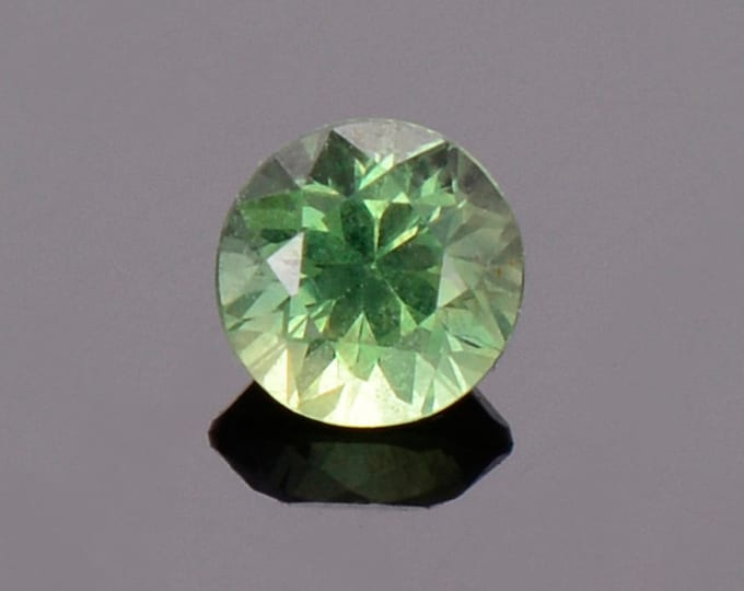 Green Sapphire Gemstone from Montana, Round, 0.46 cts., 4.4 mm.