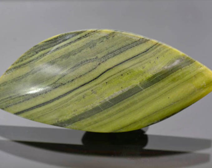 Nice Green Banded Ricolite Cabochon from New Mexico 85.61 cts.