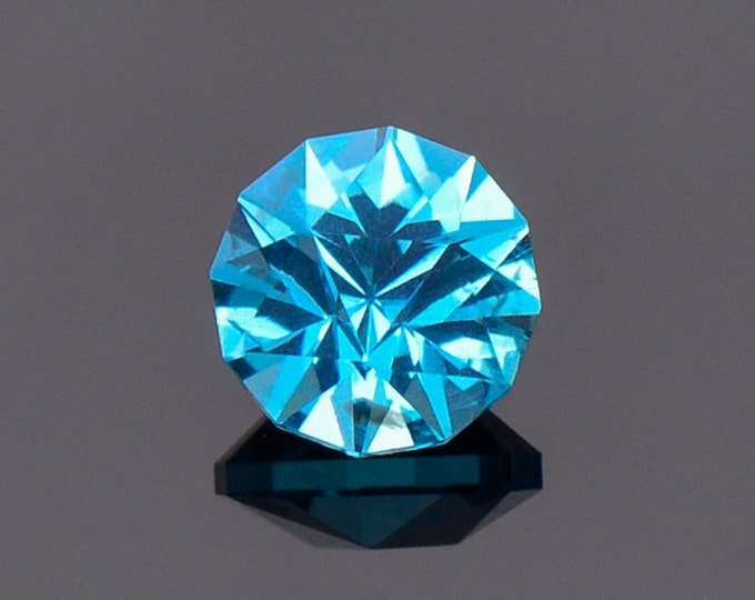 Stunning Caribbean Blue Apatite Gemstone from Madagascar, 0.75 cts., 5.5 mm., Custom Precision Round Cut
