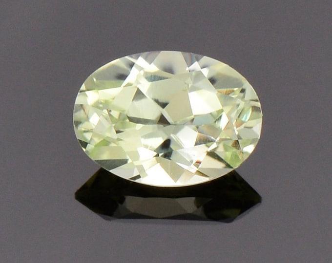 Brilliant Yellow Chrysoberyl Gemstone from Sri Lanka, 0.91 cts., 7x5 mm., Oval Shape