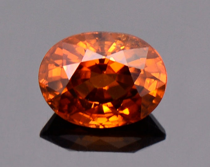 Beautiful Orange Zircon Gemstone from Tanzania, 2.12 cts., 8x6 mm. Oval Cut.