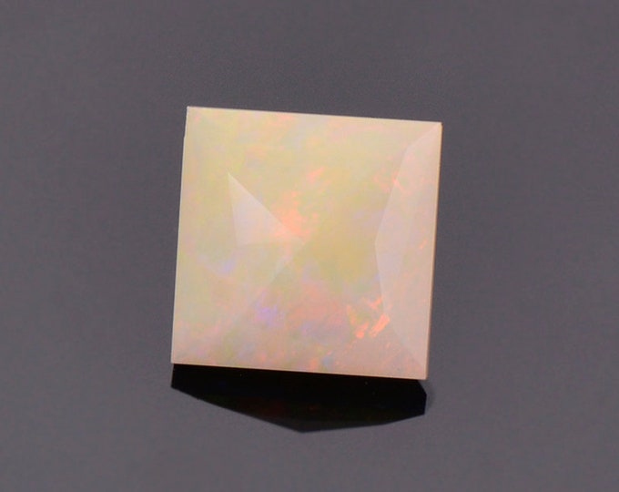 Nice Multi Color Opal Gemstone from Ethiopia, 1.46 cts., 8.3 mm., Square Shape