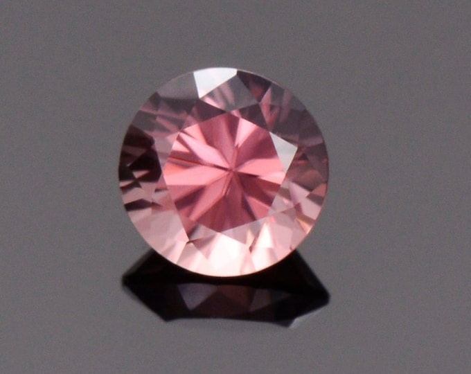 Fabulous Rose Pink Zircon Gemstone from Tanzania, 1.39 cts., 6.1 mm., Round Brilliant Cut