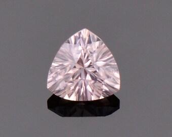 Excellent Pale Pink Zircon Gemstone from Australia., 1.46 cts., 6.5 mm., Concave Trillion Cut
