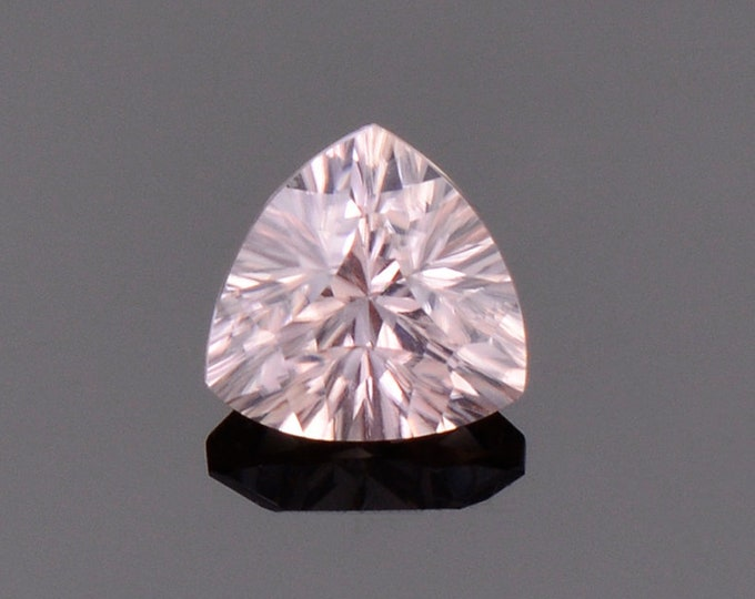 Excellent Pale Pink Zircon Gemstone from Australia., 1.46 cts., 6.5 mm., Concave Trillion Cut