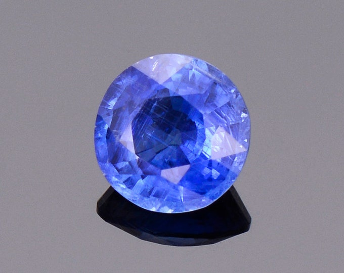 Lovely Rare Ceylon Blue Kyanite Gemstone from Nepal, 1.53 cts., 7 mm., Round Shape.