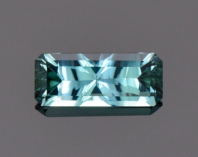 Stunning Indicolite Tourmaline Gemstone from Brazil., 1.07 cts., 10.2 x 4.3 mm., Concave Cut Bar Shape