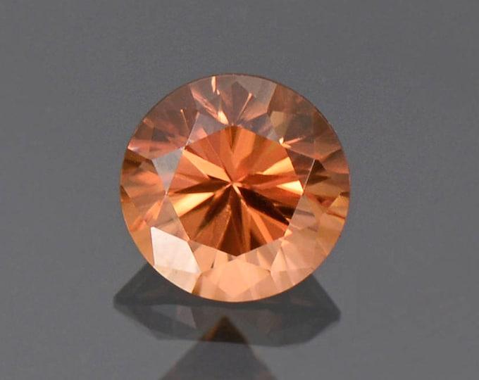Excellent Peachy Orange Zircon Gemstone from Tanzania, 6.75 mm., 1.82 cts.