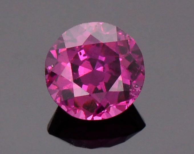 Pretty Purple Pink Rhodolite Garnet Gemstone from Montana, 1.36 cts., 6.4 mm., Round Shape.