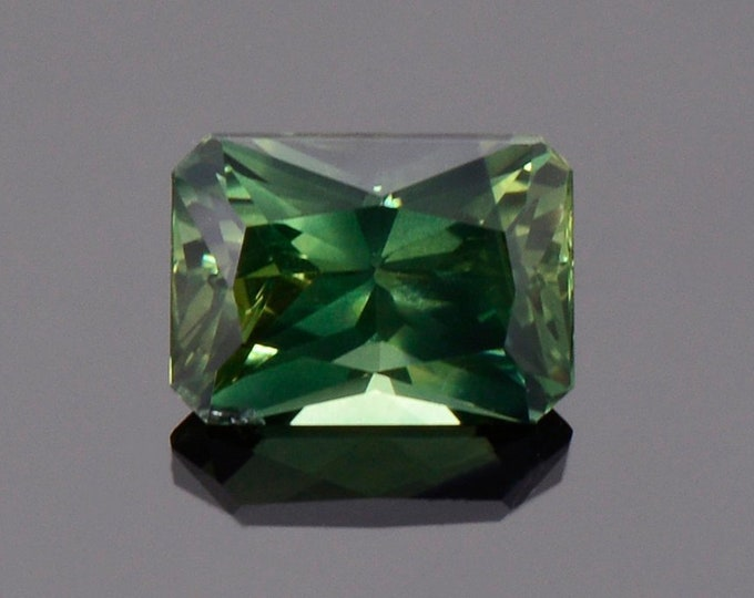 Fantastic Green Sapphire Gemstone from Australia, 1.41 cts., 7 x 5 mm., Radiant Emerald Cut