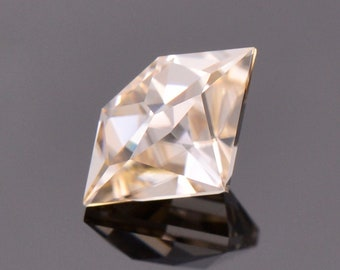 SALE! Exquisite White Champagne Zircon Gemstone from Tanzania, 2.26 cts., 9.8 x 6.3 mm., Shield Shape.