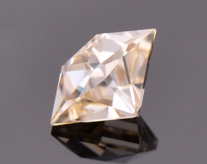 Exquisite White Champagne Zircon Gemstone from Tanzania, 2.26 cts., 9.8 x 6.3 mm., Shield Shape.