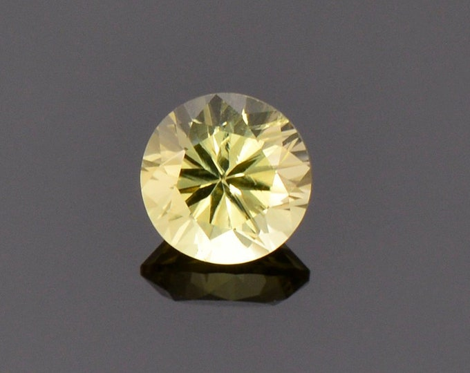 Beautiful Yellow Chrysoberyl Gemstone from Sri Lanka, 1.10 cts., 6.1 mm., Round Brilliant Cut