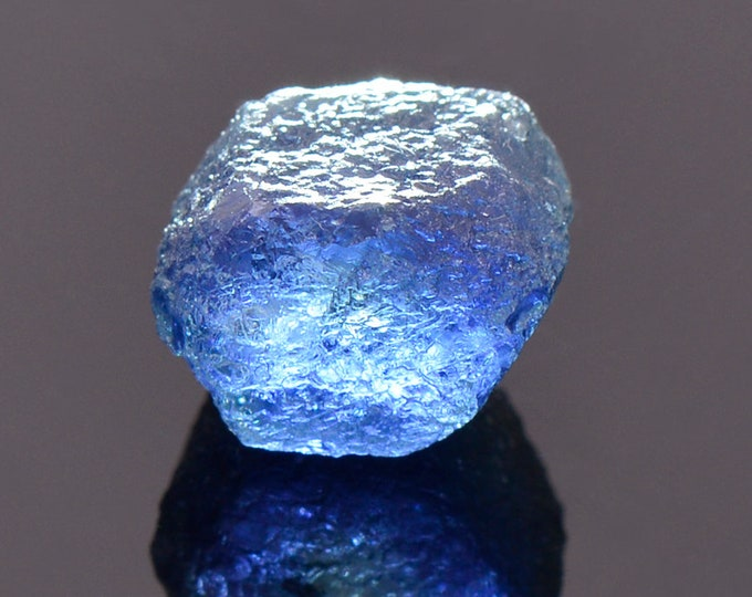Stunning Natural Blue Sapphire Crystal from Montana, 7.20 cts., 9.7 x 7.5 x 7.4 mm.