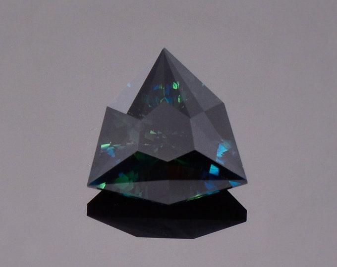 Fantastic Deep Blue Black Sapphire Gemstone from Australia, 4.67 cts., 11 mm., Precision Cut Trillion Shape