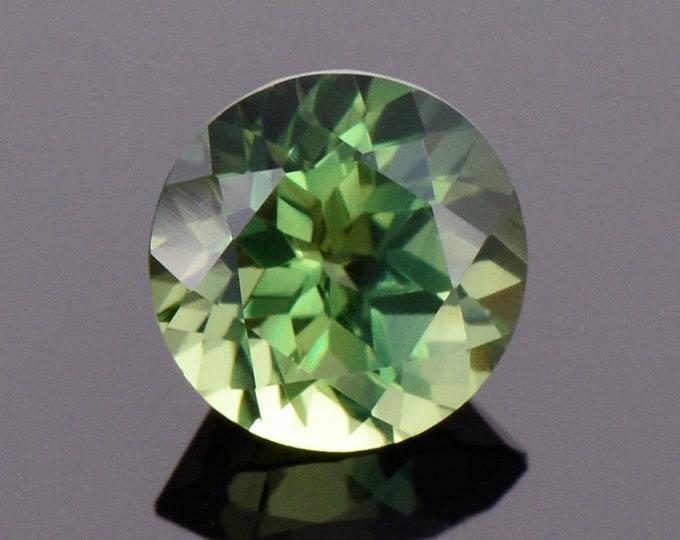 Excellent Green Sapphire Gemstone from Australia, 1.08 cts., Round Brilliant Cut