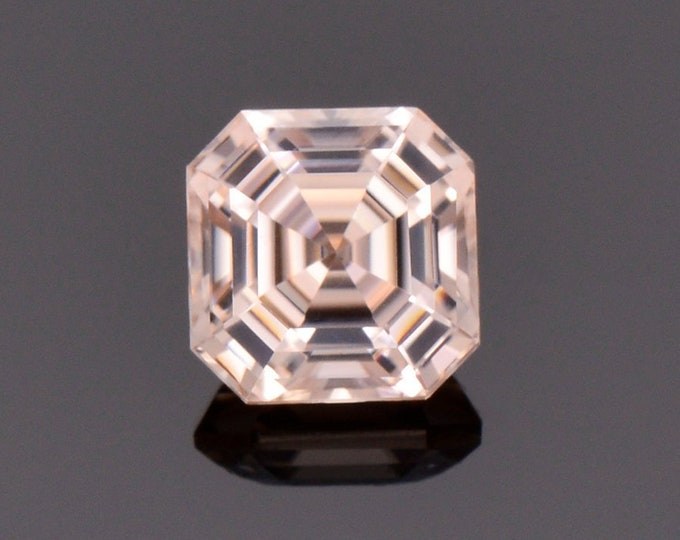 Stunning Champagne Zircon Gemstone from Tanzania, 1.84 cts., 6.2 mm., Asscher Cut