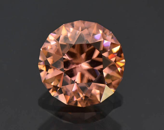 SALE! Exquisite Precision Cut Peach Zircon Gemstone from Tanzania 8.59 cts.
