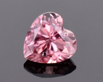 Stunning Bright Pink Zircon Gemstone from Tanzania, 1.30 cts., 6 mm., Heart Shape