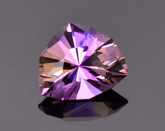 Spectacular Bi Color Ametrine Gemstone from Bolivia, 5.29 cts., 13 x 11 mm., Precision Cut Trillion Shape