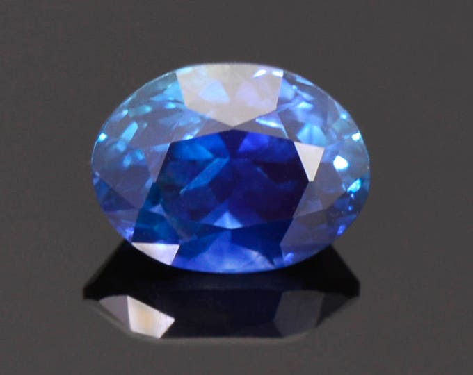 Exquisite Deep Blue Sapphire Gemstone from Montana 3.11 cts. 9.2 x 7.0 mm. Oval Shape.