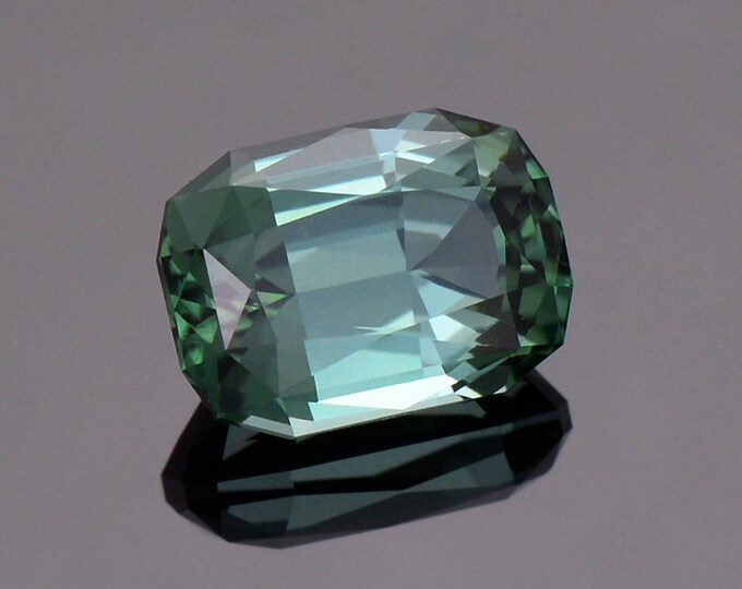 Fantastic Evergreen Tourmaline Gemstone from The Congo, 3.27 cts., 9.9 x 7.1 mm., Cushion Shape.