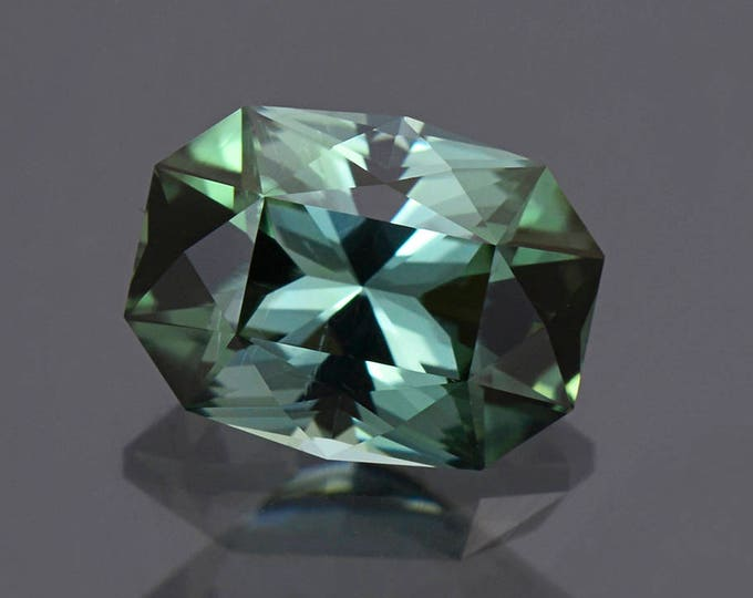 Excellent Evergreen Tourmaline Gemstone Precision Faceted Custom Cushion 3.90 cts.