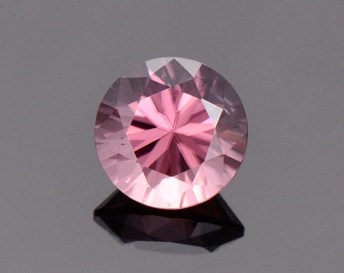 Stunning Rose Pink Zircon Gemstone from Tanzania, 1.40 cts., 6.2 mm., Round Brilliant Cut
