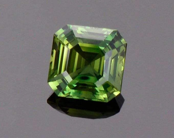 Gorgeous Green Sapphire Gemstone from Australia, 1.05 cts., 5.5 mm., Asscher Cut