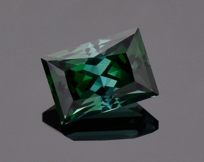 Fabulous Deep Evergreen Color Tourmaline Gemstone from Congo, 3.93 cts., 10.4 x 7.2 mm., Radiant Rectangle Cut
