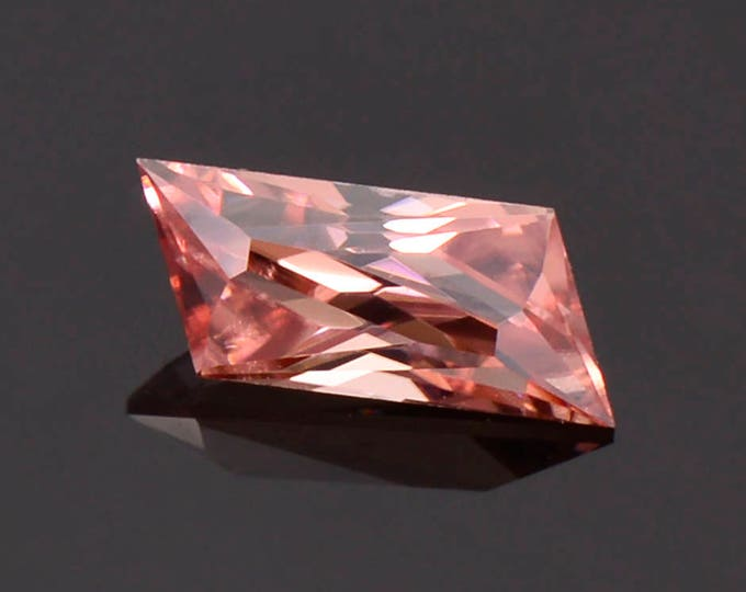 Spectacular Unique Shape Pink Champagne Zircon Gemstone from Tanzania 1.34 cts.