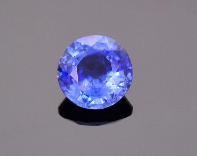 Beautiful Rare Ceylon Blue Kyanite Gemstone from Nepal, 1.61 cts., 7 mm., Round Shape.