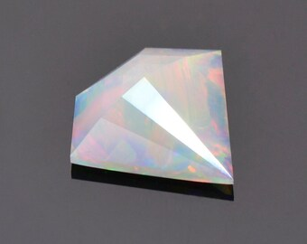 Outstanding Multi Color Opal Gemstone from Ethiopia, 2.03 cts., 14 x 13 mm., Gemstone Silhouette Rose Cut